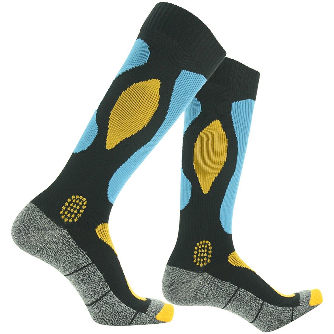 RANDY SUN Breathable Waterproof Socks, [SGS Certified] Men's Industrial Nylon Socks Blue&Black Size Medium by RANDY SUN