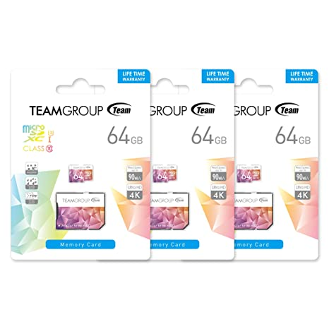 TEAMGROUP Color Card II UHS-I U3 MicroSD 64GB 3-Pack Tarjeta ...