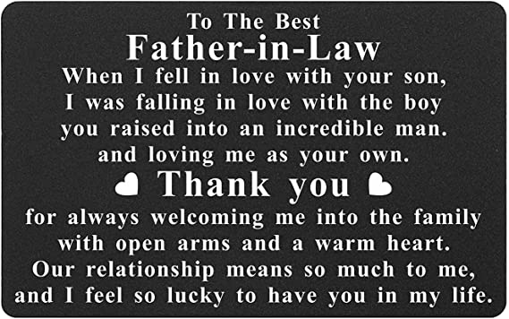 Father-In-Law Gift Plaque