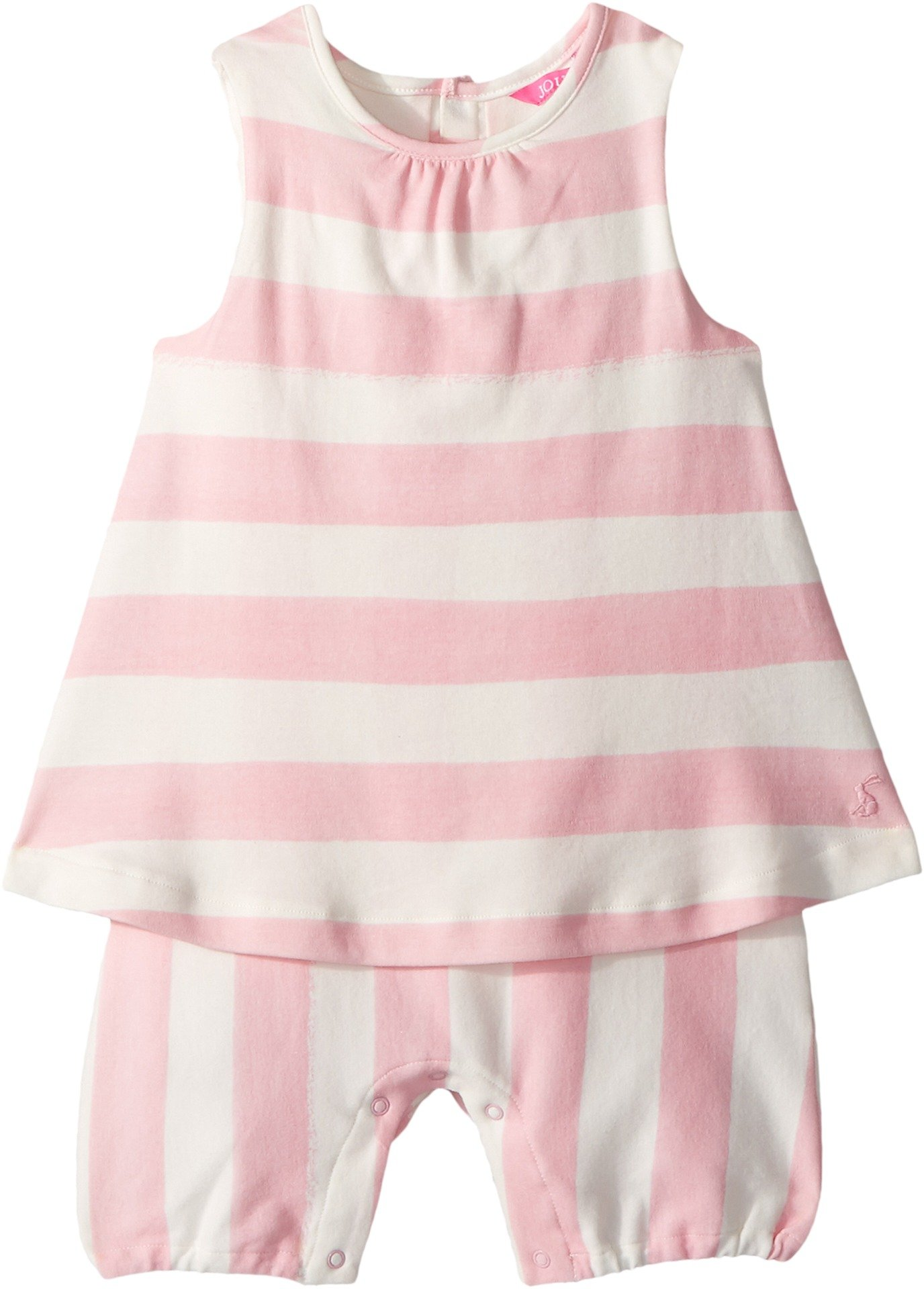 Joules Kids Baby Girl's Jersey Romper (Infant) Pink Stripe 6-9 Months