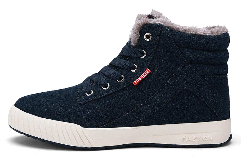 best sneakers 72cc5 ce590 Santimon tobillo de nieve Botas Hombre Gamuza Confort cordones Cálidos  zapatos de invierno Antideslizante alto Top Bootie al aire libre Sneaker  Verde
