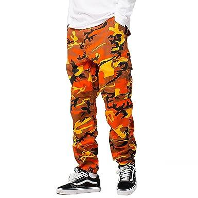 e014570d77 swimstore Color Camo Cargo Pants Baggy Tactical Trouser Hip Hop Casual  Cotton Multi Pockets Pants Streetwear at Amazon Women's Clothing store: