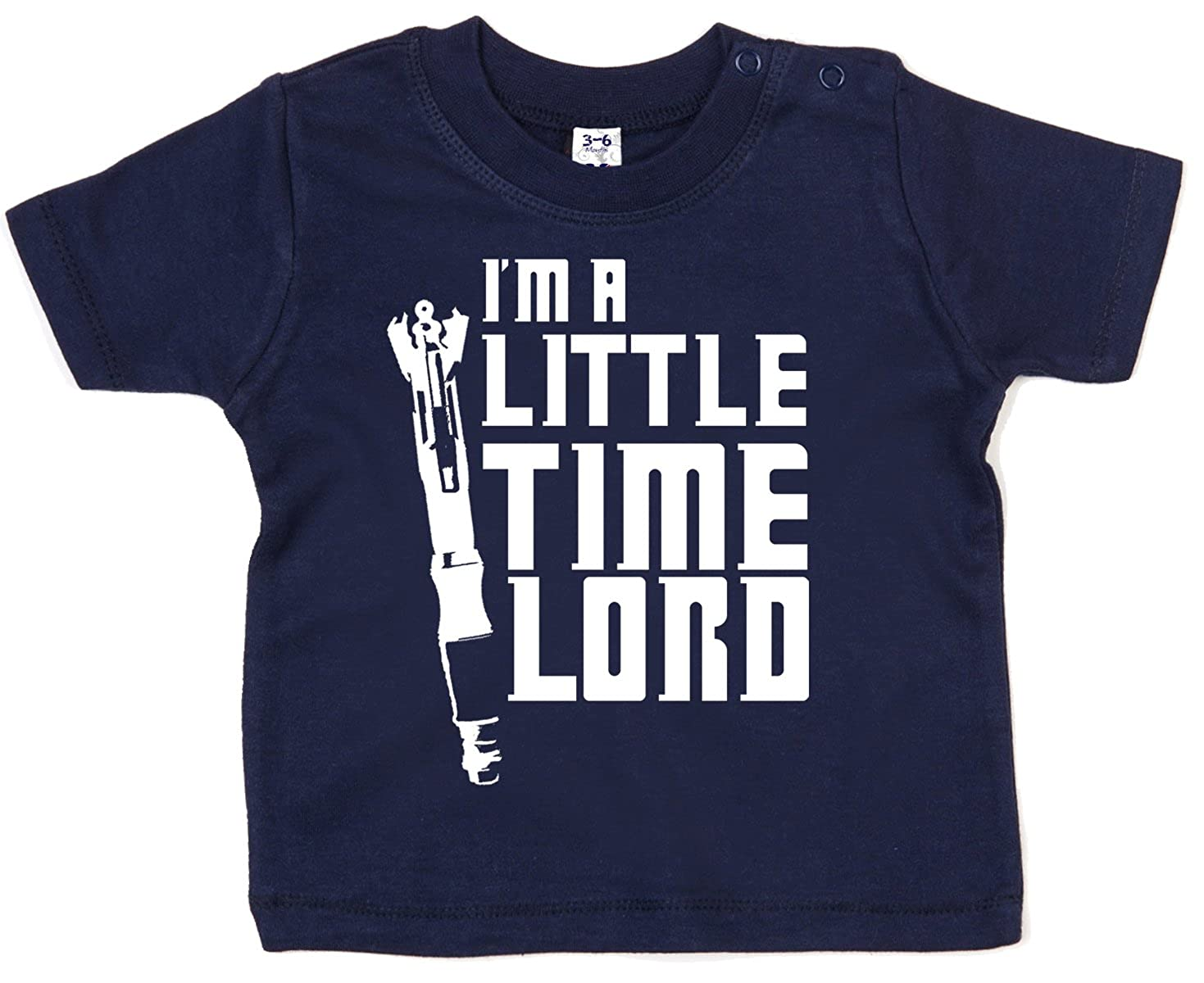 Dirty Fingers Baby T-Shirt Im a Little Time Lord
