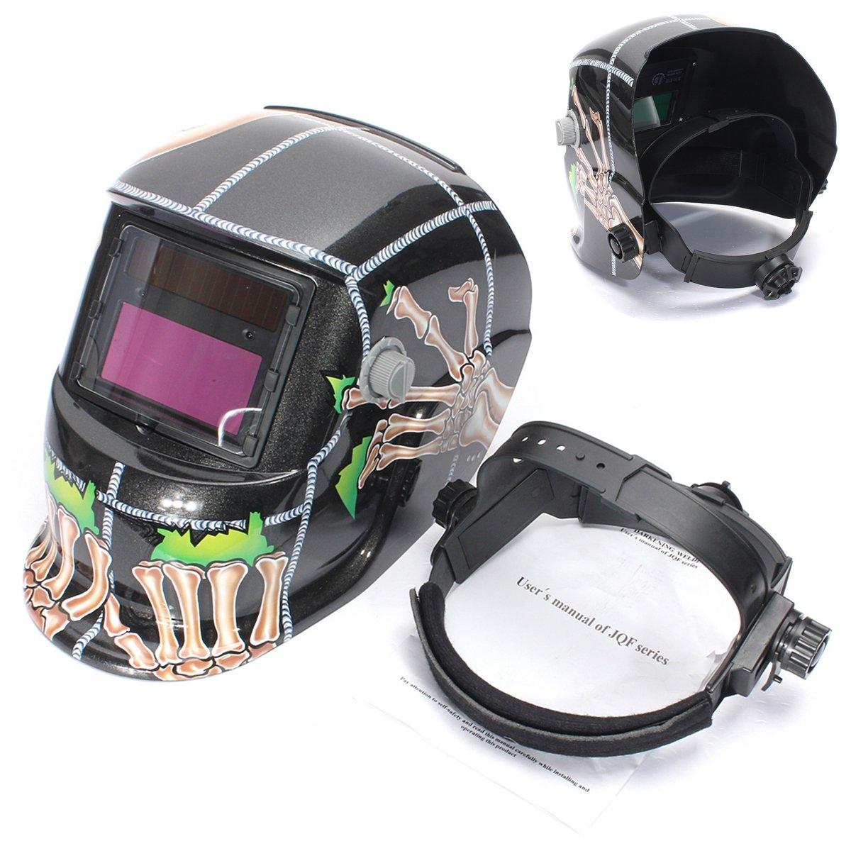 AUDEW solar auto oscurecimiento soldadura casco arco Tig Mig máscara de soldador máscara calavera: Amazon.es: Bricolaje y herramientas