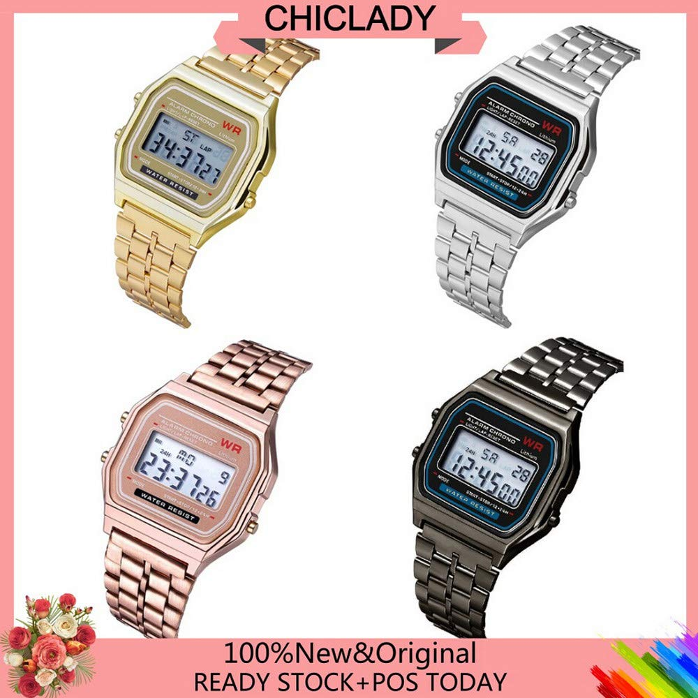 Amazon.com: LED Digital Waterproof Quartz Wrist Watch Dress Golden Wrist Watch Women Men,Outsta Clock Gift Watches Round Case Wristwatches (Rose Gold): ...