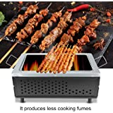 Barbecue Grill, Folding Portable Japanese Ceramic Hibachi BBQ Picnic Table Grill Yakitori Barbecue Charcoal Camping Grill Propane Gas Grill 40CM