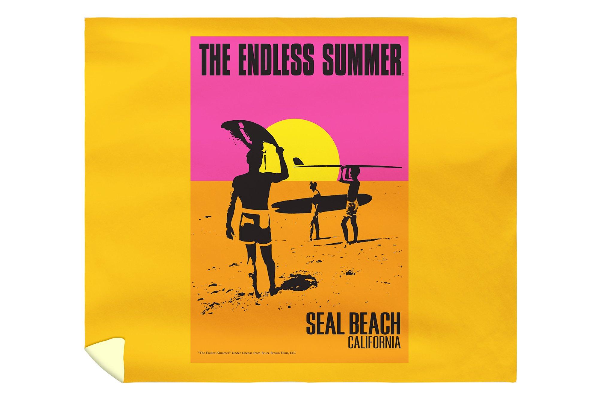 Seal Beach, California - The Endless Summer - Original Movie Poster (88x104 King Microfiber Duvet Cover)