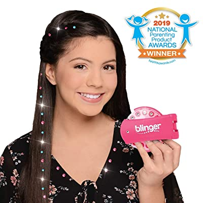 Blinger Deluxe Set, Radiance Collection, Comes with Glam Styling Tool & 150 Gems - Load, Click, Bling! Hair, Fashion, Anything! ( Exclusive): Toys & Games