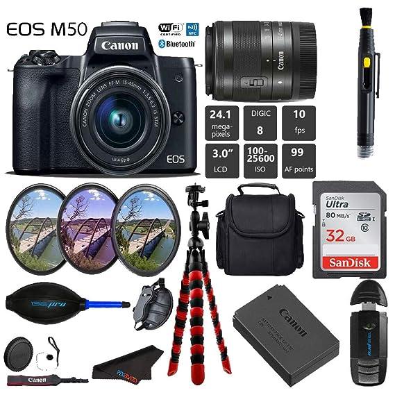 Canon EOS M50 Cámara Digital sin Espejo con Lente de 15-45 mm ...