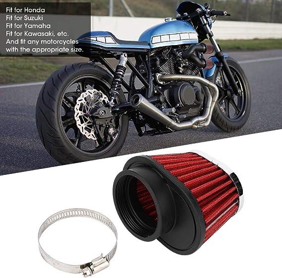 Qiilu Accessorio di modifica del motociclo del filtro del filtro dellaria del motore della testa del fungo 39mm
