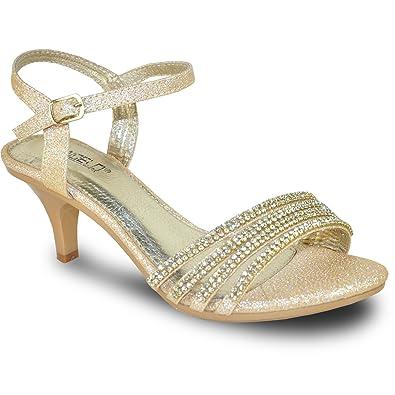 VANGELO Women Sandal FERNE-1_CHAMPAGNE Heel Party Prom & Wedding Sandal CHAMPAGNE 10M