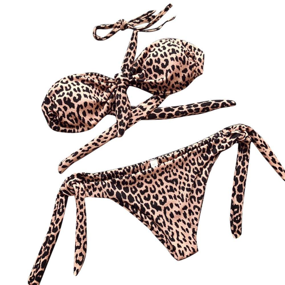 Xmiral Badeanzüge Bademode Damen Sexy Punkt gedruckt Bikini Set