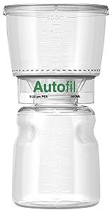 Autofil Sterile Disposable Vacuum Filter Units with 0.2um Sterilizing PES Membrane, 500mL, 12/CS