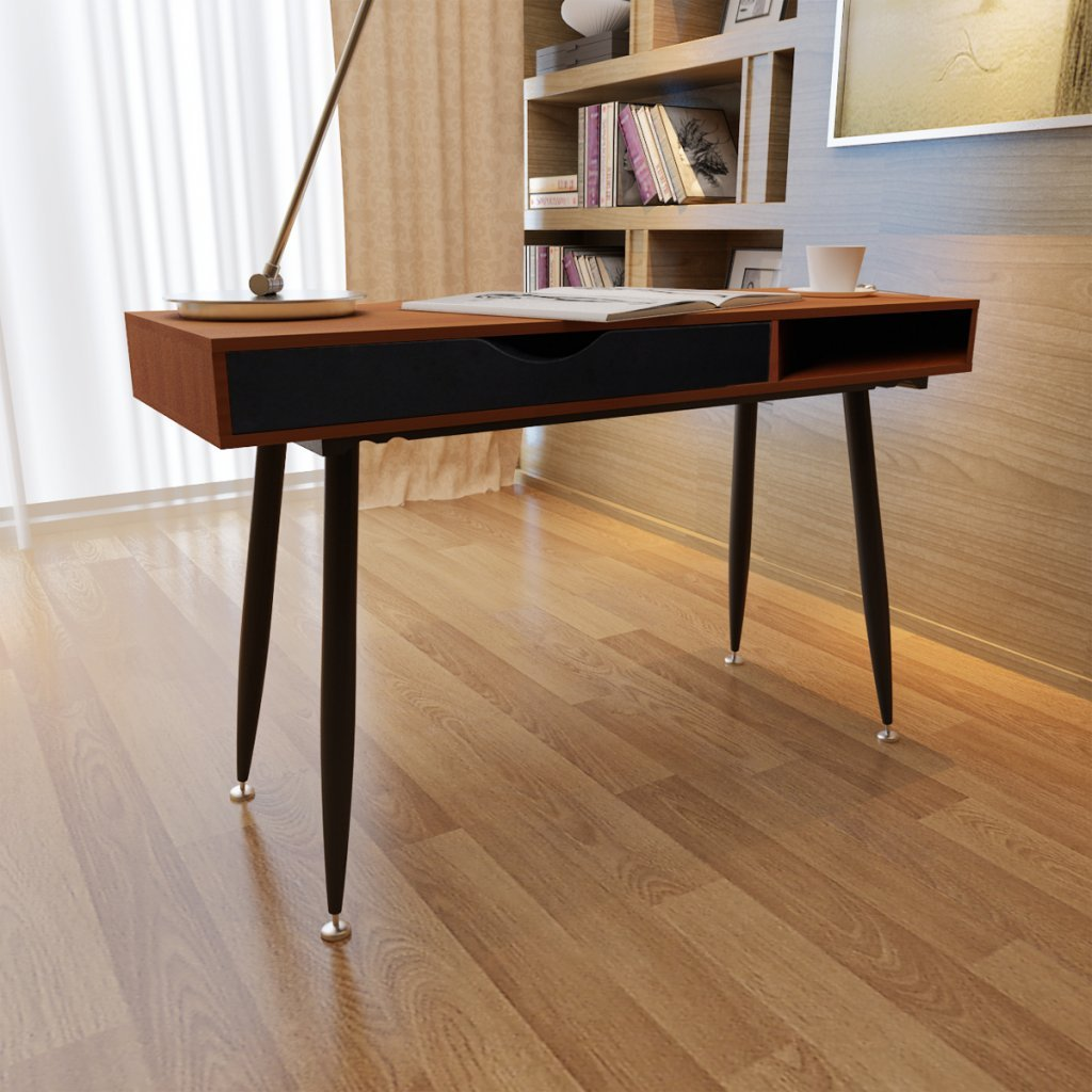laptop office desk. brown workstation computer desk laptop table amazoncouk kitchen u0026 home office