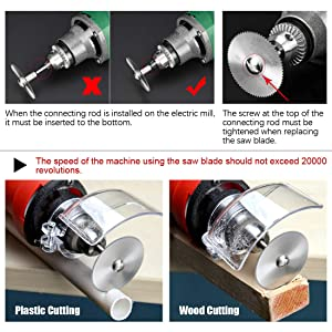 Swpeet 40Pcs Rotary Diamond Cutting Wheel Kit, 10Pcs 1/8 Shank 22mm Diamond Cutting Wheel and 6Pcs Mini HSS Saw Blades with 20Pcs Resin Cut Off Disc