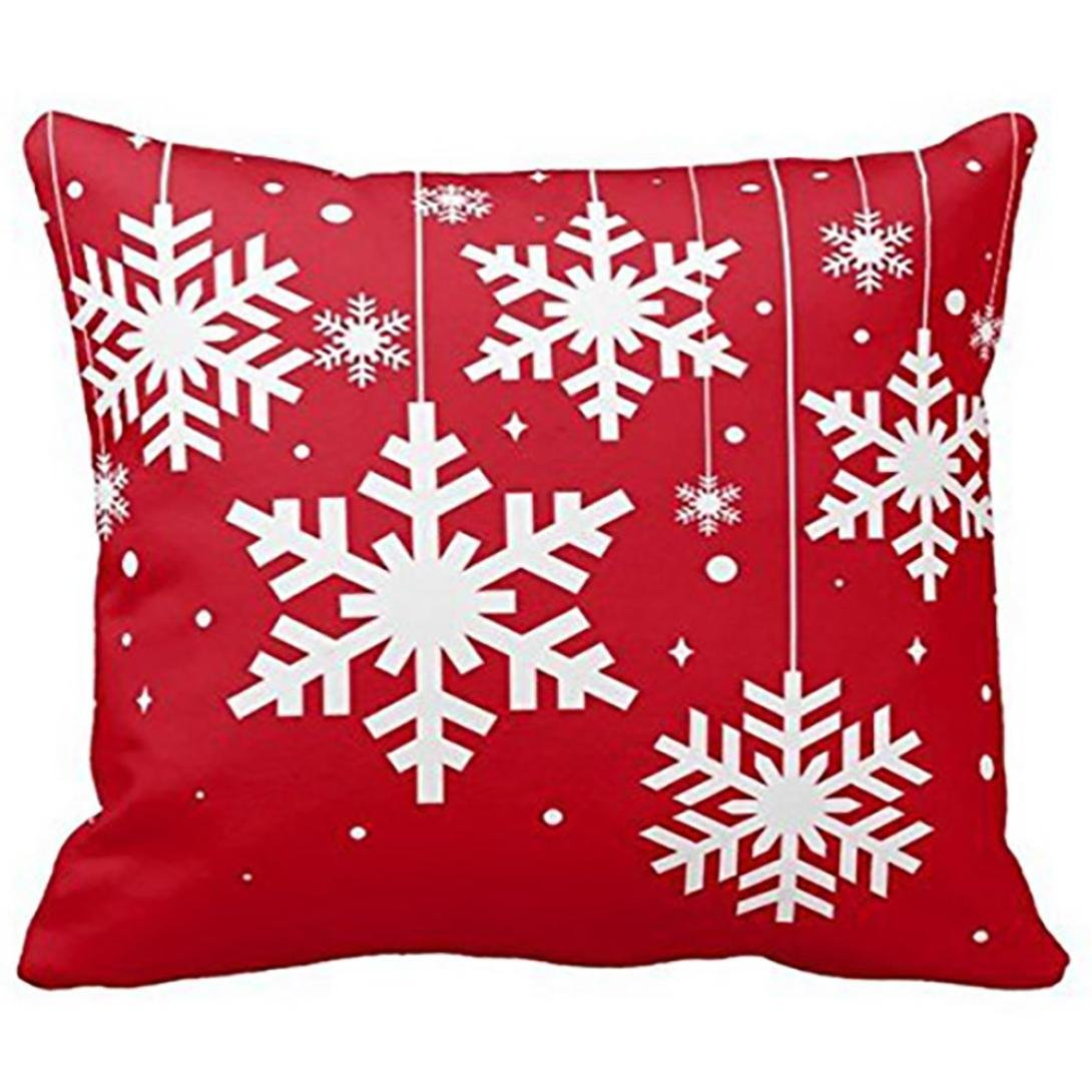 Beautyvan Soft Christmas Pillow Case Sofa Waist Throw Cushion Cover Home Decor