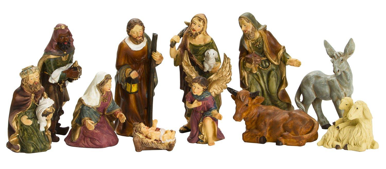 Nativity Set - 3 Inch Real Life Nativity Set 11 Figurines