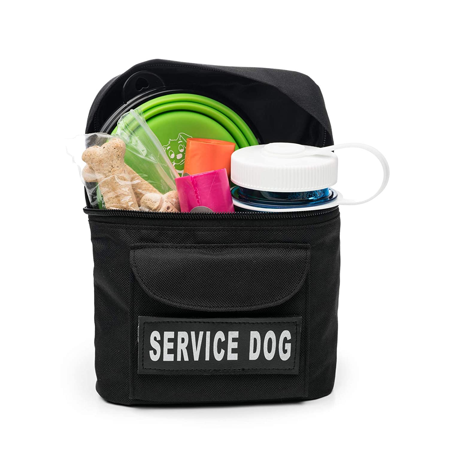 Service Dog Quality Saddlebag for Service Dogs Vests In Training Service Dog In Training Emotional Support Do Not Pet Back Pack Service Dog Vest Harness Saddle Bag BackPack Pouch with Patches