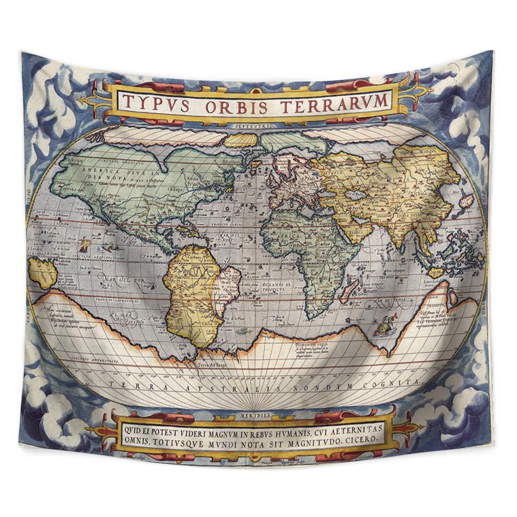 Lihan Tapicería Mapa del Mundo-2 Elefante Hippie Mandala de Pared ...