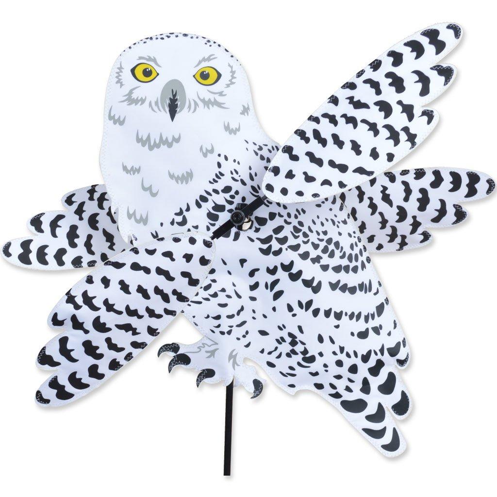 SNOWY OWL Whirligig Garden Stake Wind Spinner by Premier Kites & Designs