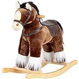 Cavallo a dondolo Marrone con modulo sound, 65538