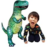 "Jet Creations 37"" T-rex Tyrannosaurus Inflatable Air Stuffed Plush Toy, Durable Self Standing, one of the best Dinosaur Toys, Party Favors for kids, Pool Toys, DI-TYR3,Multicolor"