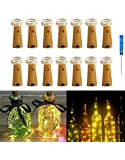 pink Adaptable 2m Led Wine Bottle Light Battery Operated Cork Shape Fairy Copper Wire Strip Lamp Lighting Strings Lights & Lighting