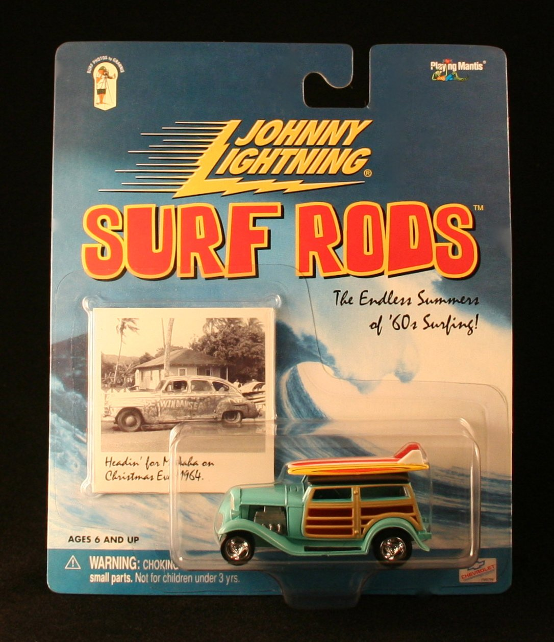 DA SURF WOODY  Blau  Johnny Lightning 2000 SURF RODS Release One 1:64 Scale Die Cast Vehicle by Johnny Lightning