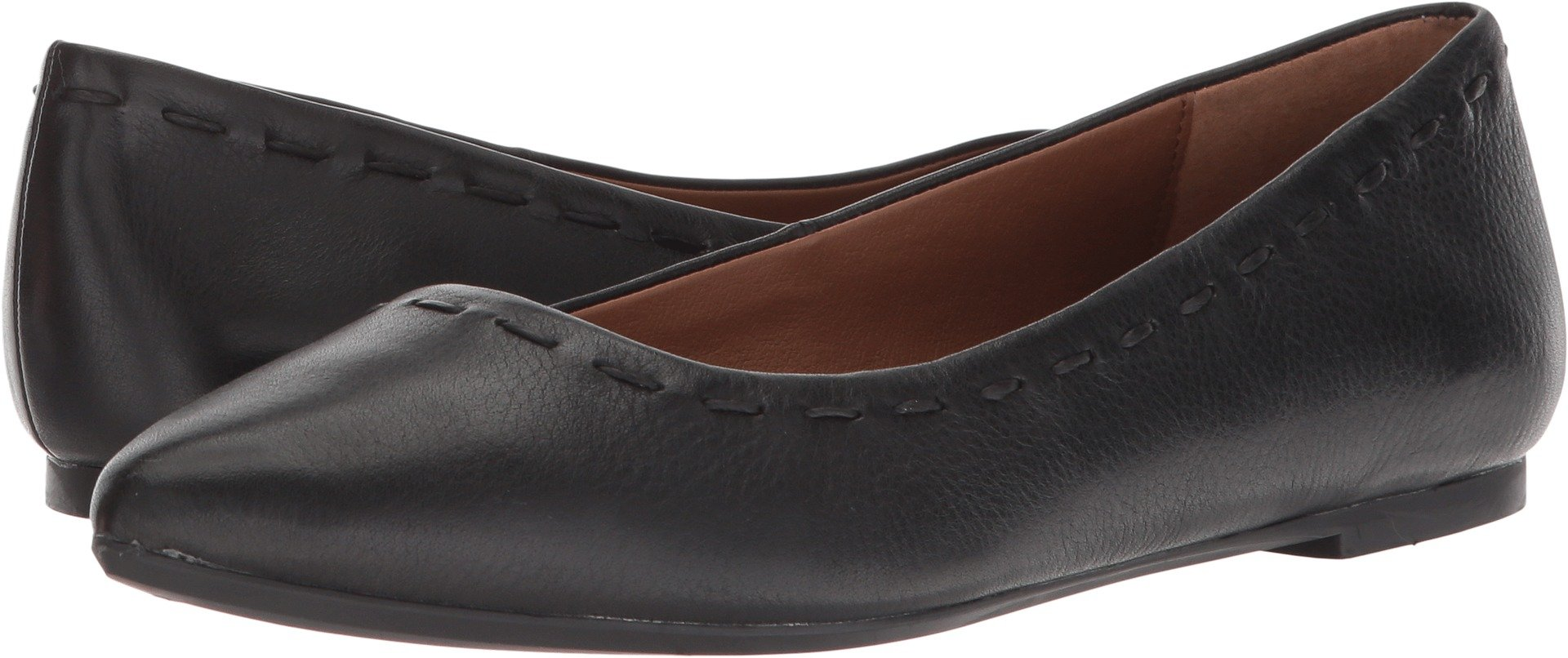 FRYE Women's Kiki Stitch Ballet Black Cow Napoli 7.5 B US