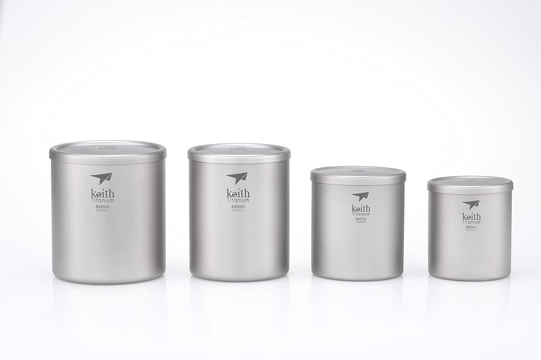 7.4 fl oz Keith Titanium Ti3301 Double-Wall Mug with Lid