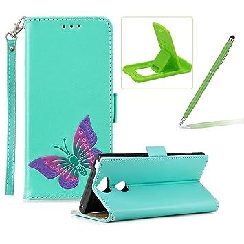 ... para Sony Xperia XA2 Ultra, diseño de mariposa hecha a mano, a prueba de golpes, piel sintética, con función atril: Amazon.es: Instrumentos musicales