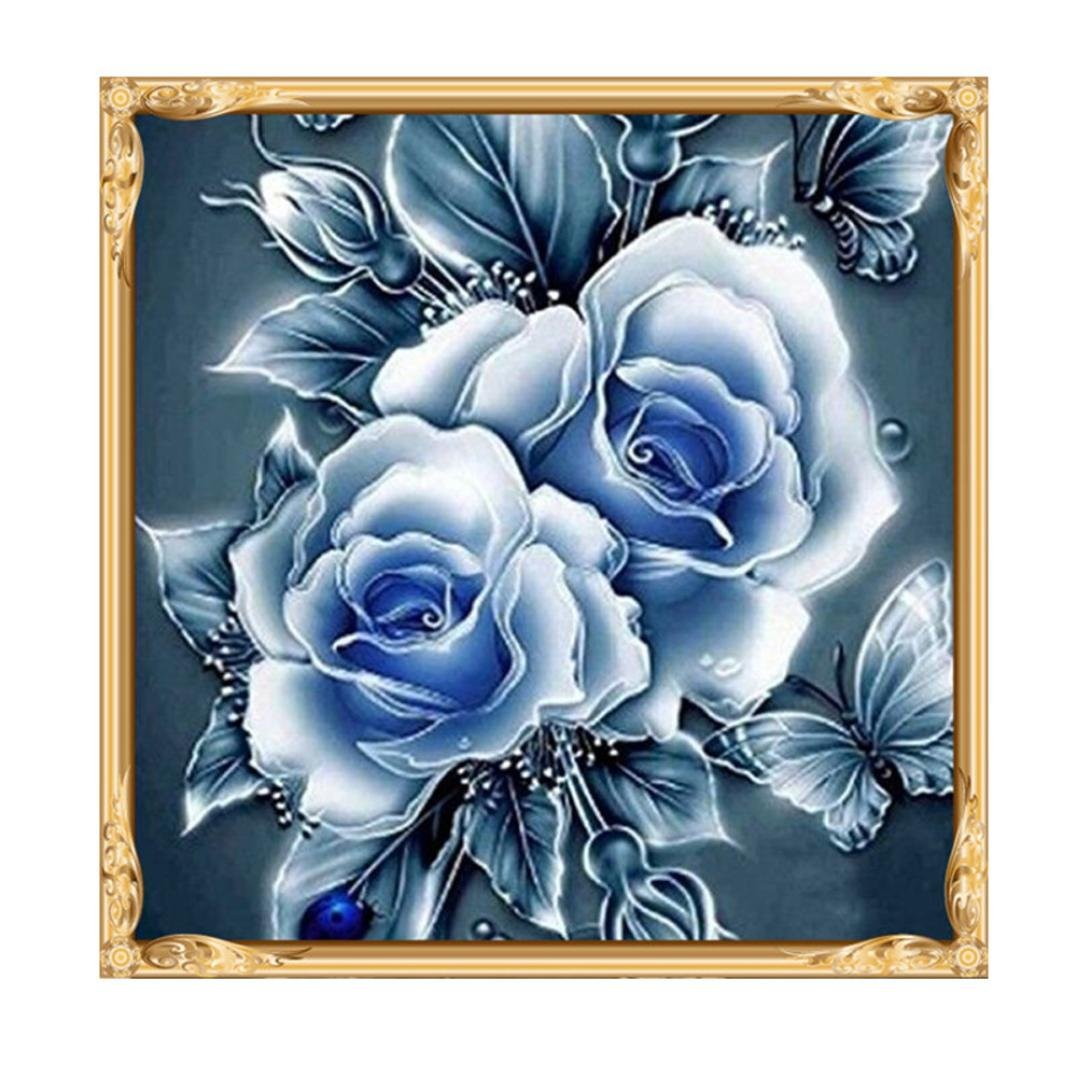 Fairylove 16/×16 inch Diamond Painting Kit Rose Paint with Diamonds Dotz Kit Cross Stitch Kits Crystal Drill Kit,Yellow Rose