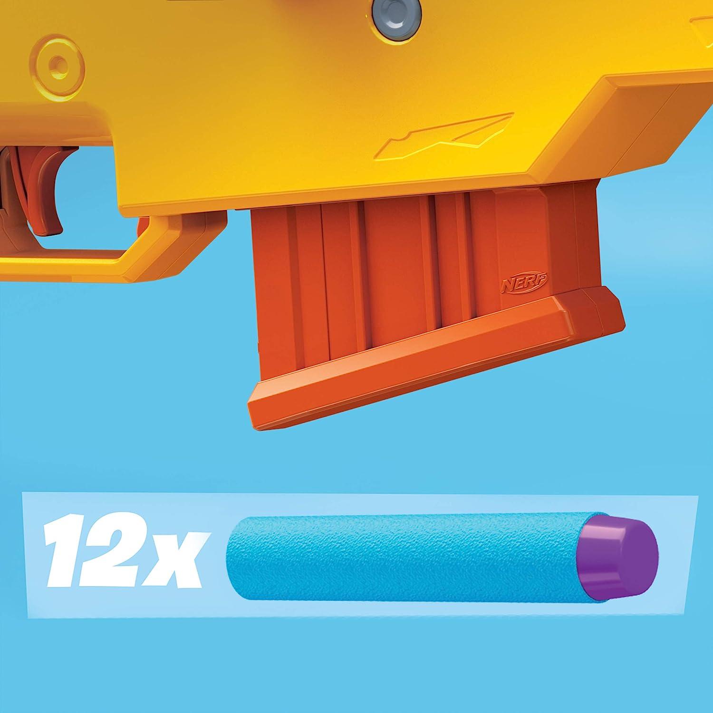 6-Dart Clip and 12 Official Elite Darts Clip Fed Blaster NERF Fortnite BASR-L Bolt Action Includes Removable Scope