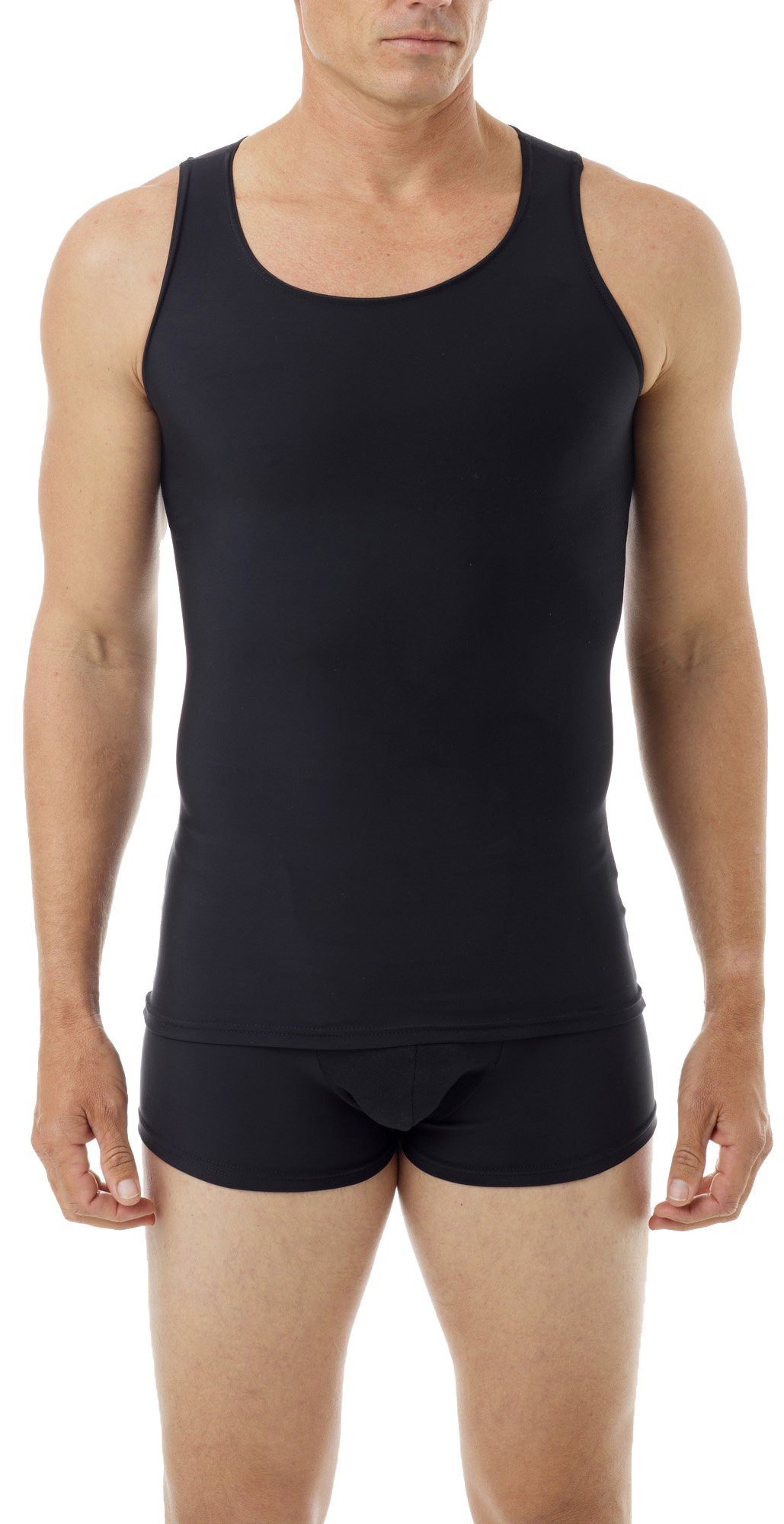 Underworks Mens Microfiber Compression Tank, XSmall, Black by Underworks (Image #1)
