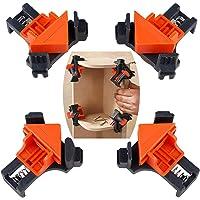 Houtklemmen set van 4, Alldo Hoekklemmen van 90 graden voor houtwerk, Houten Frame Clip Tools, Houtbewerkingsgereedschap…