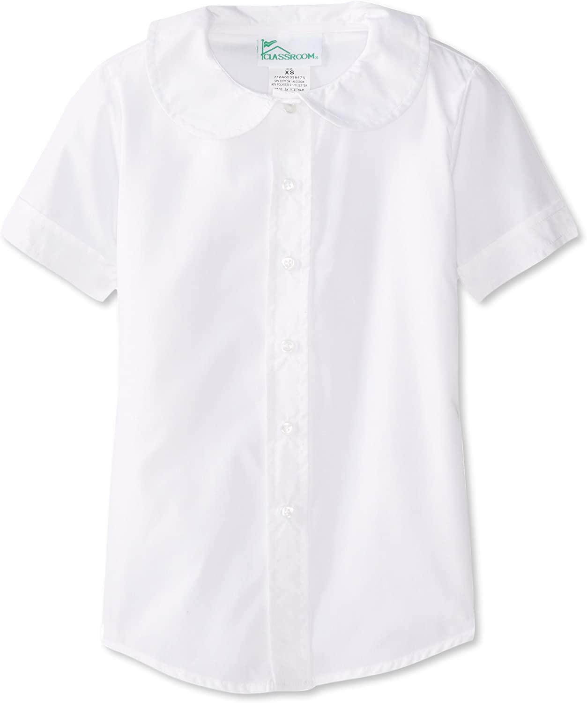 Ladies Poplin Half Sleeve Formal Shirt EASY CARE Work Office Short School lot