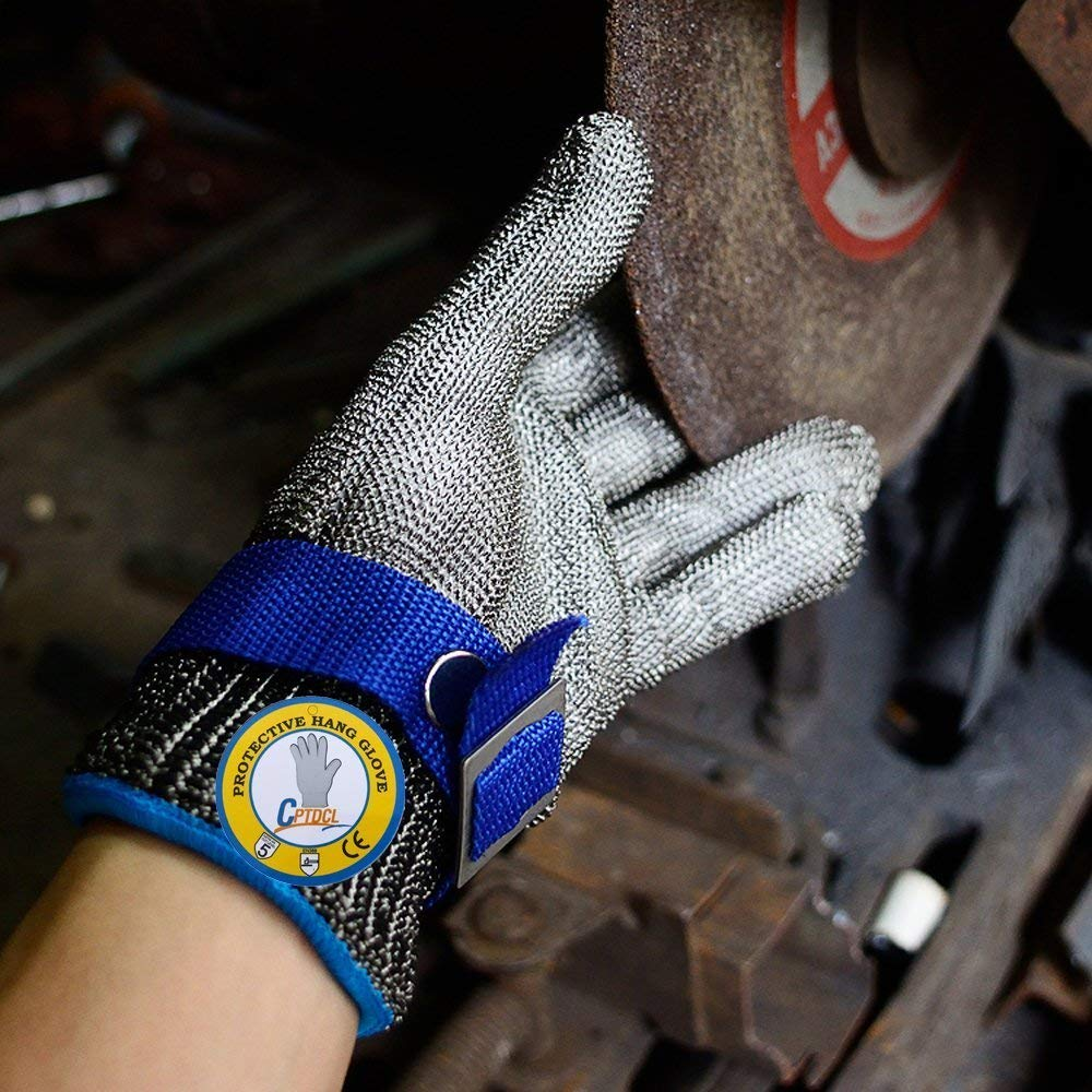 Safety Cut Proof Stab Resistant 316L Stainless Steel Wire Butcher Glove High Performance Level 5 Protection Size M by cleanpower (Image #3)