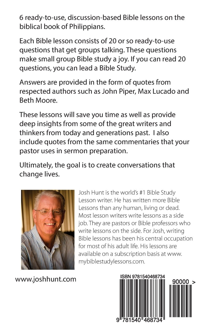 Question-based Bible Study Lessons - Philippians: Good