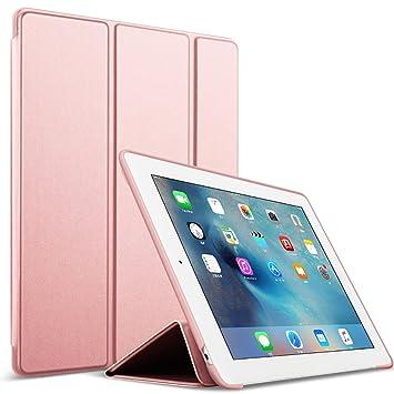 Funda para iPad 2/3/4 - GOOJODOQ Smart Case Cover Piel Sintética a Prueba de Golpes de Silicona Suave TPU Funda para Apple iPad 2 iPad 3 iPad 4 Oro ...