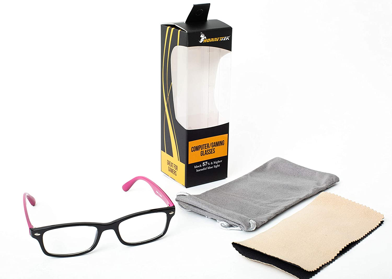 4ebd311ca45 Amazon.com  HornetTek B076-BR Computer   Gaming Glasses with Blue Light  Blocking Protection   UV Filter Eyewear Light Weight Frame Crystal Lens   Home Audio ...