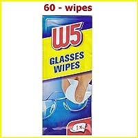 60lingettes nettoyantes W5Convient pour nettoyer Lunettes, appareils photo, jumelles, voiture, miroirs, visières, écrans d'ordinateurs, téléviseurs, téléphone portable iPhone Android