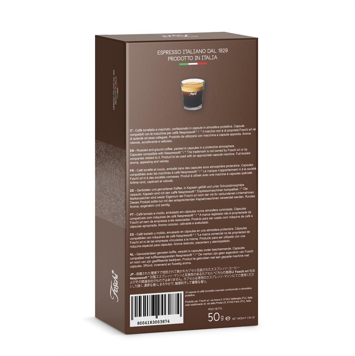 160 Cápsulas Foschi Café Compatibles Nespresso Calidad cremoso