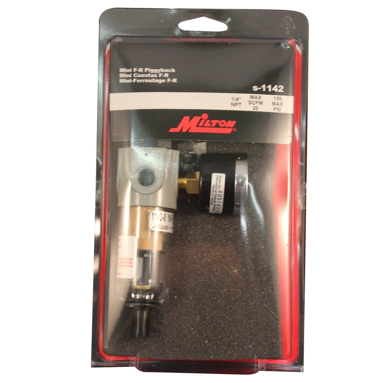 Milton S-1142 1/4'' NPT Polycarbonate Mini Piggyback FR Duo