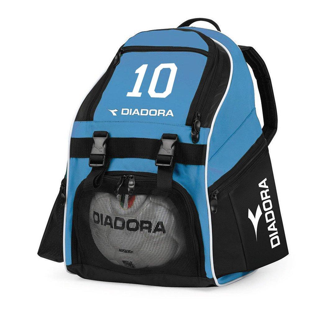 Diadora Squadraサッカーバックパックカスタマイズwith your player数 B075G26CNC ブルー(Columbia Blue) ブルー(Columbia Blue)