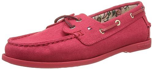 Tommy Hilfiger M1285artha 8d, Náuticos para Mujer, Rojo (Tango Red 611), 39 EU: Amazon.es: Zapatos y complementos