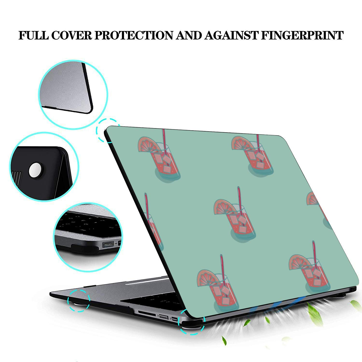 Laptop 13 Inch Case Summer Sweet Cool Watermelon Juice Plastic Hard Shell Compatible Mac Air 11 Pro 13 15 Laptop Protective Case Protection for MacBook 2016-2019 Version