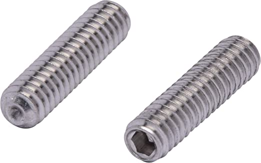 """1//4-20 x 7//8/"""" Socket Set Screws Allen Drive Cup Point Stainless Steel Qty 25"""