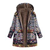 Vintage Oversize Coats for Womens Warm Hooded
