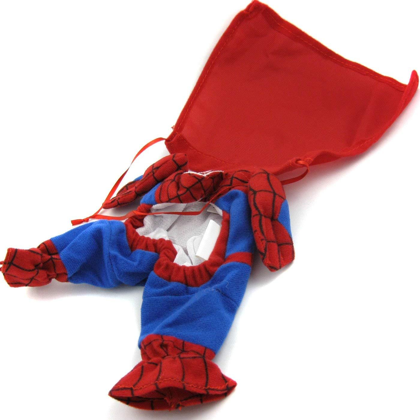 5b68a5a13ba0 Amazon.com: Alfie Pet - Superhero Costume Spiderman - Size: M: Pet Supplies