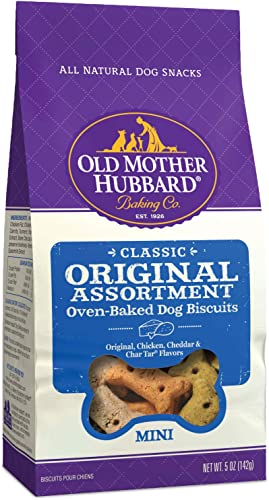 Old Mother Hubbard Classic Crunchy Natural Dog Treats, Original Assortment Mini Biscuits, 5-Ounce Bag